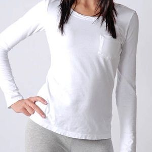 JAMES PERSE White Weathered Long Sleeve T-Shirt 2